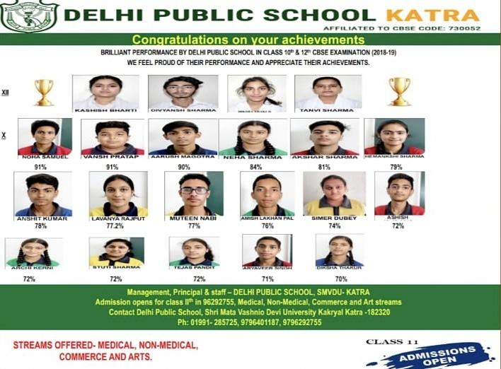 Delhi Public School, Katra